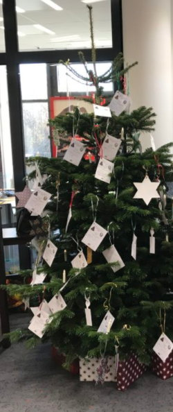 Weihnachtsbaum-Wunschkarten-Kinderweihnacht